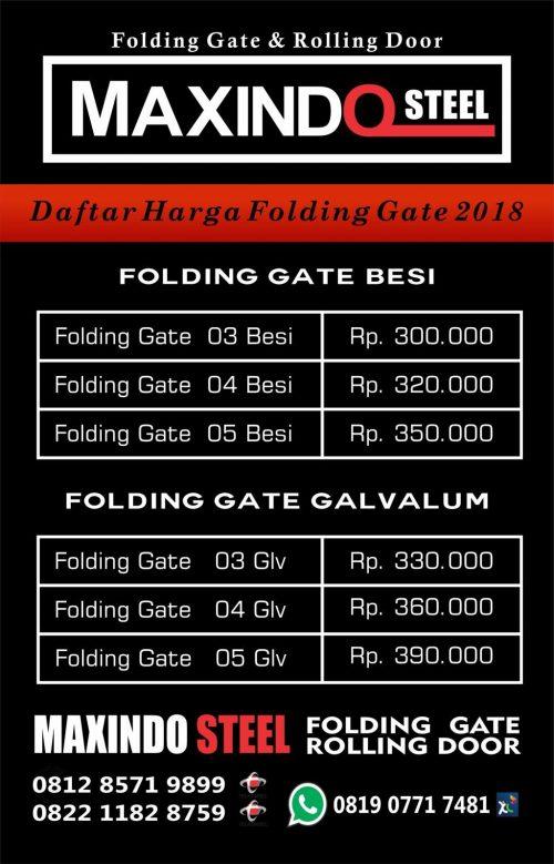 Folding Gate Gondangdia Jakarta Pusat