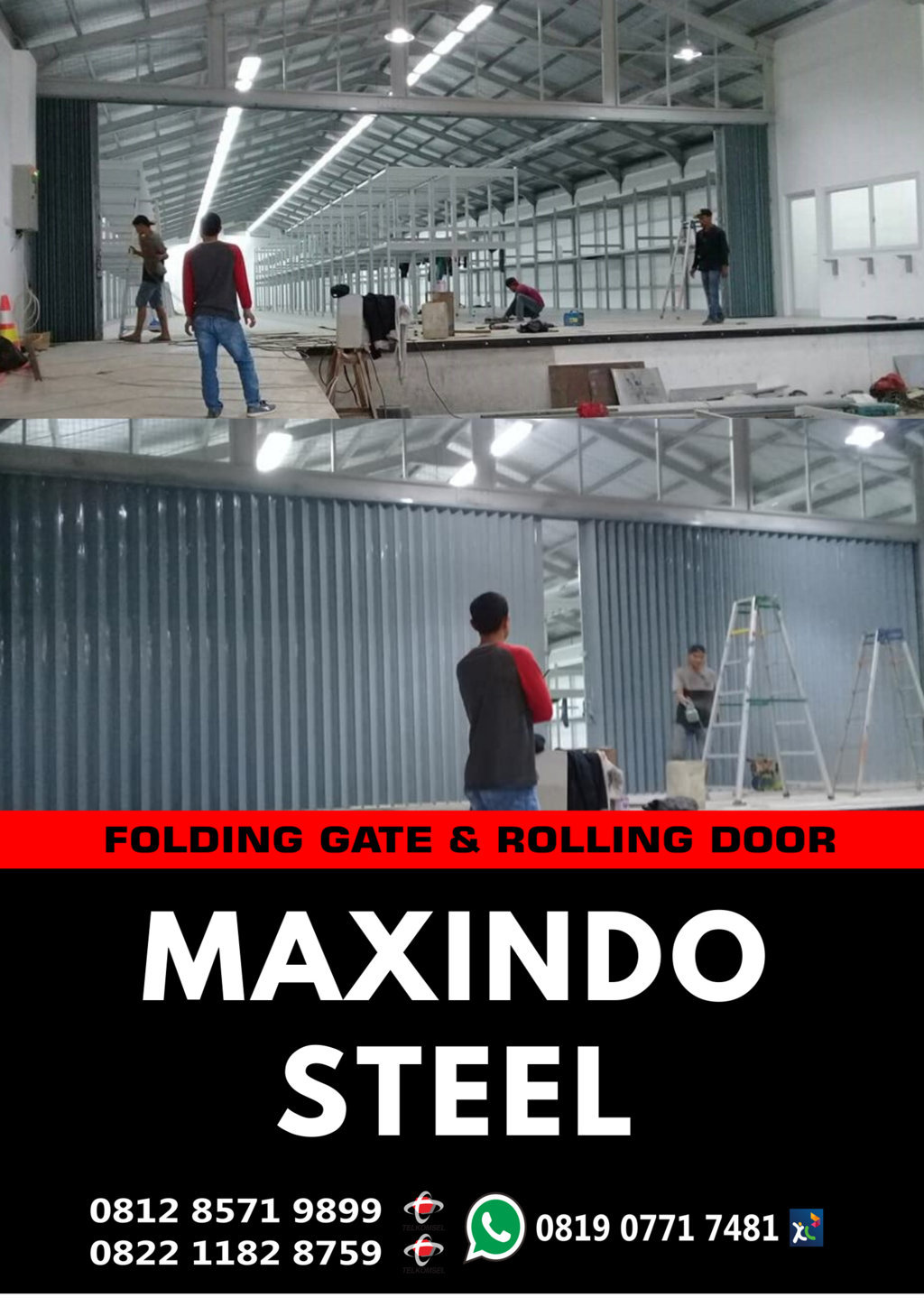FOLDING-GATE-ROLLING-DOOR-Pontianak- Kalimantan- Barat
